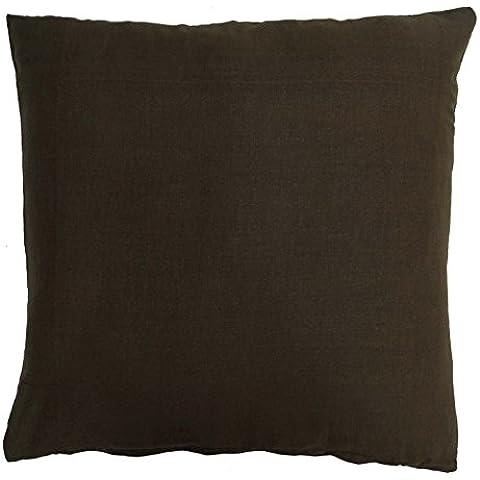 Caso de la cubierta de la India decorativo Marrón Algodón Inicio Decor Throw Pillow Cojín 16 x 16 pulgadas