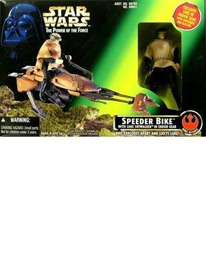 Star Wars Star Wars Luke Action Figure in Endor Gear with Speeder Bike