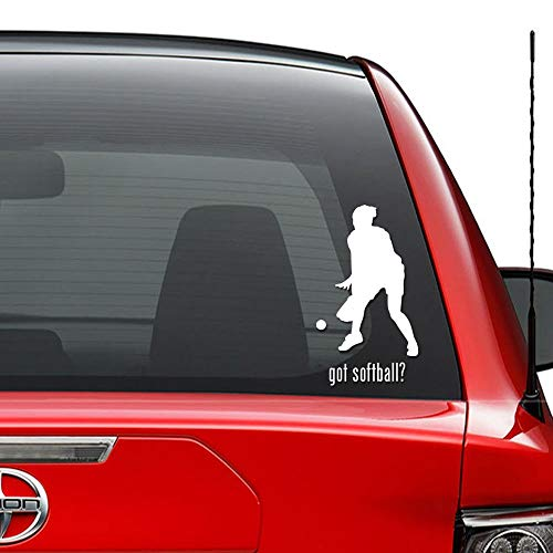 Seba5-Car sticker Got Baseball Softball Frauen Sport Vinyl vorgestanzte Aufkleber Aufkleber für Windows Wanddekor Auto LKW Fahrzeug Motorrad Helm Laptop und mehr - Größe (06 Zoll / 15 cm hoch) / (Farb -