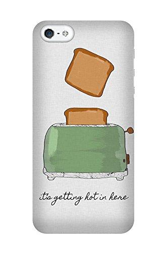 artboxONE Premium-Handyhülle iPhone 5/5S/SE It's Getting Hot in Here - Typografie Essen & Trinken Liebe Musik - Smartphone Case mit Kunstdruck hochwertiges Handycover kreatives Design Cover von Paper Pixel Print