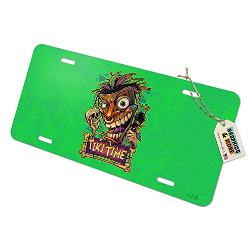 Graphics and More Tiki Time Witch Doctor tropischen Insel Neuheit Metall Vanity Tag License Plate