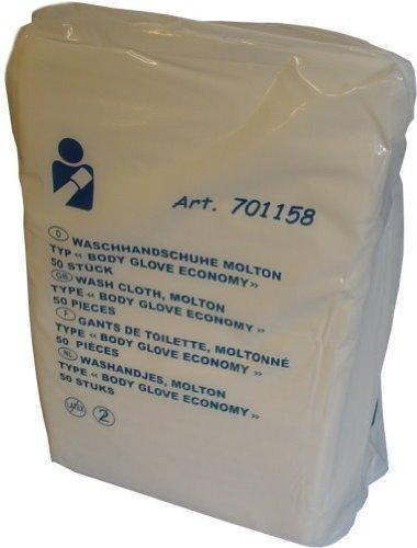Newsbenessere.com 41Z-ZiitTYL Molton una volta washcloth - 16 x 23 cm - bianco - per un veloce o approfondita Corpo o Cura intima - 250 Pezzi