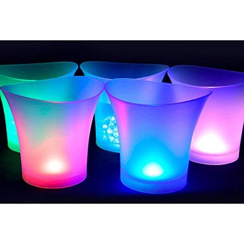 coloré lumière LED Seau à glace Champagne Vin boissons Bière Ice Cooler Barre de fête 5L