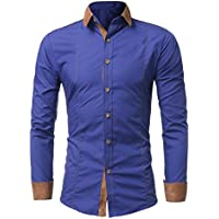 LUCKYCAT Mann Hemd Mode Normallack männliches beiläufiges langärmliges Hemd preisvergleich bei billige-tabletten.eu