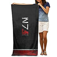 "Monicago Beach Towel, Bath Towel, Adult Mass Effect N7 Logo Absorbent Quick Dry Pool Bath Travel Beach Towel Blank Blanket Extra Large Long 31""x 51"" (80cm X 130cm)"