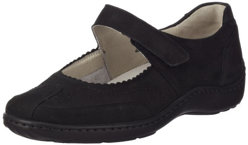 Waldläufer Henni Damen Slipper, Schwarz (Denver Nero), 40 EU (6.5 UK)