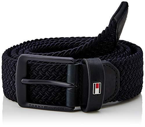 Tommy Hilfiger Solid Modern Elastic Belt 3.5, Cintura Uomo, Blu (Tommy Navy 413), 8 (Taglia Produttore: 100)