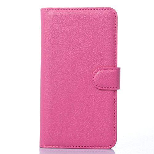 Tasche für Meizu MX4 Pro (5.5zoll) Hülle, Ycloud PU Ledertasche Flip Cover Wallet Case Handyhülle mit Stand Function Credit Card Slots Bookstyle Purse Design Rose Red