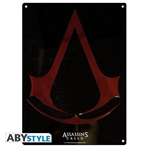 (Assassins Creed - 3D Blechschild - Crest Logo - 38 x 28 cm)