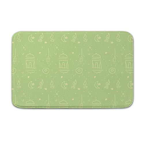 DKISEE Fußmatte für den Innen- und Außenbereich, Fußmatte mit Pelita-Muster, 50,8 x 80 cm