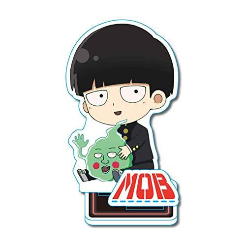 Saicowordist Mob Psycho 100 Anime Acryl Doppelseitige Ttransparente Kleine Stehende Dekoration Neuheit Cartoon Bild Stand Dekoration Anime Fans Geschenk( Mob-1)