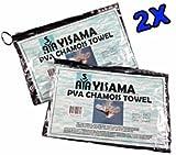 YISAMA Serviette Chamois,Serviette Sport Compact, Refraichissant, Séchage Rapide, Drain Et Sec, L´emballage Flexible Parfait Pour Natation,Sports Nautiques,Camping, Vélo,Gym 66x43 Cm (2x Emballage)
