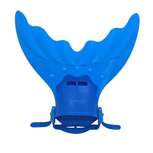 SueSupply Meerjungfrau Schwimmflossen Monoflosse Tauchflossen Schwanzflossefür Jugendliche Kinderschwimmen Erwachsenen 39.5*39cm,Blau
