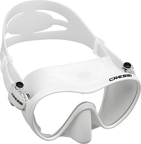 Cressi F1 Masque Plongee Snorkeling Adulte, Technologie Frameless Blanc