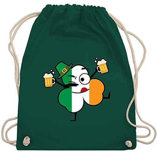 St. Patricks Day - Bier trinkendes Kleeblatt - St. Patricks Day - Unisize - Dunkelgrün - WM110 - Turnbeutel & Gym Bag