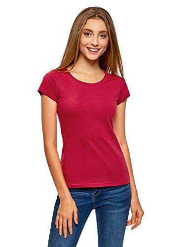 Oodji ultra donna t-shirt basic in cotone (pacco di 2), multicolore, it 46/eu 42/l