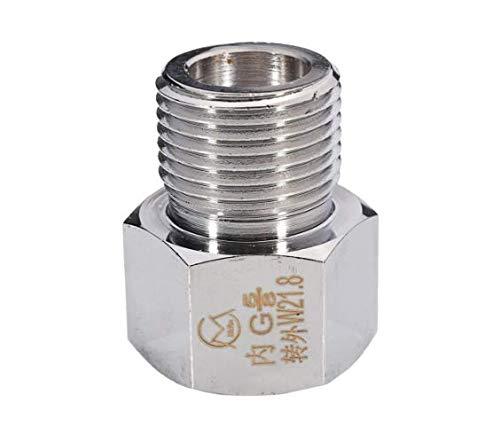 EsportsMJJ Chrome Co2-Zylinder Joints Regulator Adapter Connector Aquarium W21.8 To G5/8 M22X1.5 Bis 22X1.5-3# -