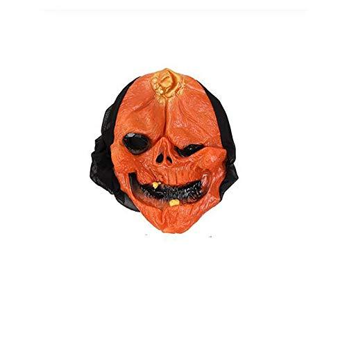 Lorenory Unisex Horror Scary Maske Halloween Kürbis Schädel Maske Full Face Party Maske for Erwachsene Realistische Weiblich Männlich Masken Maskerade (Color : Two Teeth) (Two Face Kostüm)