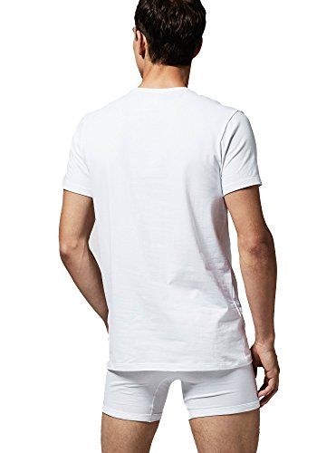 """Lacoste T-Shirt Doppelpack Herren Round Neck """"C/N TEE"""" Einfärbig - Farbauswahl Weiß"""