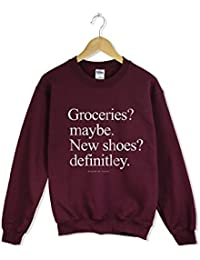 Groceries or shoes sweatshirt as seen on tumblr and instagram made famous by zoella
