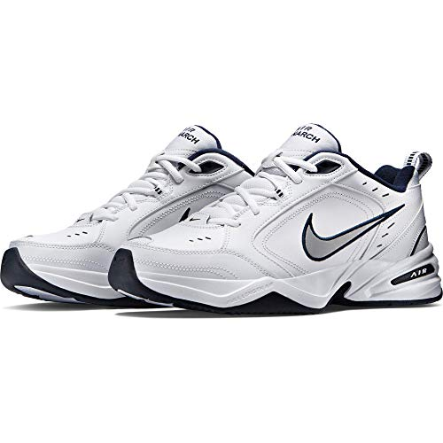 Nike Air Monarch IV, Scarpe da Fitness Uomo, Bianco (White/Metallic Silver 102), 42 EU