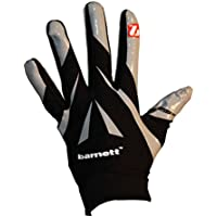 FRG-03 Professional Receiver Football Gloves, RE, DB, RB, Black, barnett