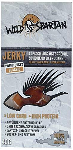 Wild Spartan Jerky Turkey Classic, 3er Pack (3 x 40 g)