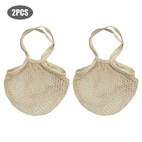 Ökologie-wiederverwendbare Baumwollmaschen-Einkaufstüten, Baumwollschnur-Taschen-Netz-Einkaufstüten -