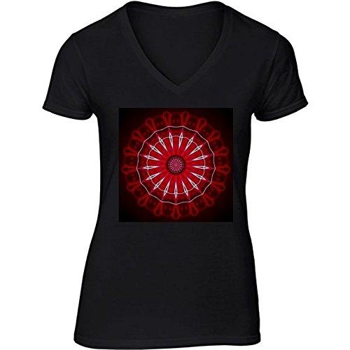 t-shirt-nero-scollo-a-v-donne-taglia-s-mandala-by-siebenhuehner