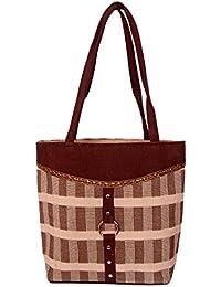 Womaniya Women's Shoulder Bag (Brown-Handicraft Jute Bag)