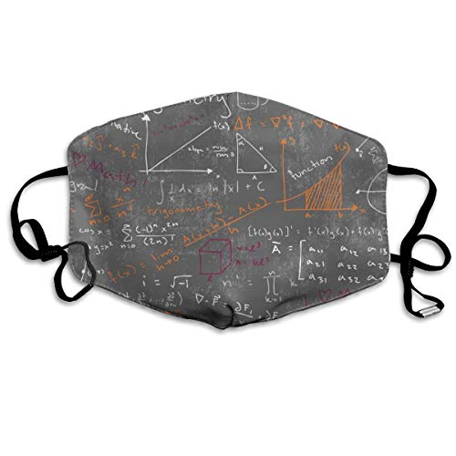 vintage cap Math Lessons (Maroon And Orange) Anti Dust Mask Anti Pollution Washable Reusable Mouth ()
