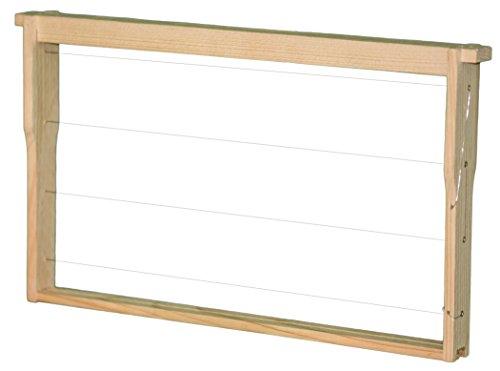 30 Deutsch Normal Maß DNM Rähmchen / Rahmen MODIFIZIERT mit Hoffmann Seiten fertig montiert waagerechte Drahtung, Europa- Qualität, mit Edelstahldraht und Messingösen 394 x 223 mm