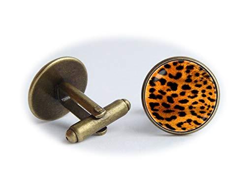 Leopard Haut Manschettenknöpfe Tier Manschettenknöpfe Leopard Print Safari Geschenk afrikanischen -