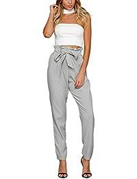Missy Chilli Damen Hosen Elegant High Waist Skinny Strech Skinny Chiffon  Hosen Casual Streetwear Pants a4f2a0e478