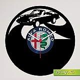 Gravinci.de Schallplatten-Wanduhr Alfa Romeo Spider