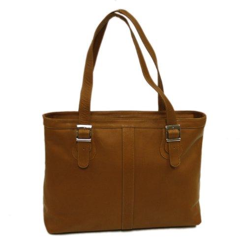 Piel Leather Laptop-Tasche für Damen in Sattelbraun, Einheitsgröße