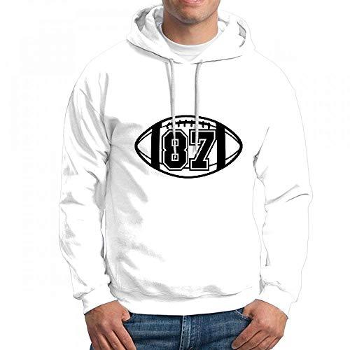 ruziniujidiangongsi Sweatshirt Hoodie Men Number 87 On Football Hoodies Sweatshirt