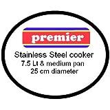 Premier Stainless Steel Pressure Cooker Gasket 7.5 Lt