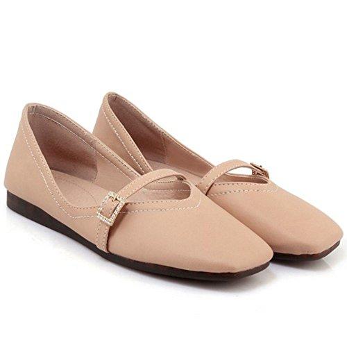TAOFFEN Donna Ballerina Scarpe Col Tacco Pink-40