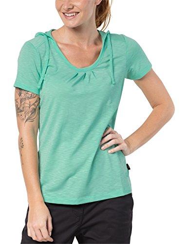 Jack Wolfskin Damen Travel Hoody T Shirt, Pale Mint, M