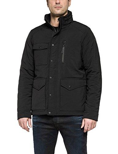 Replay Men's Men's Oxford Jacket In Black Color In Size Xxl Black