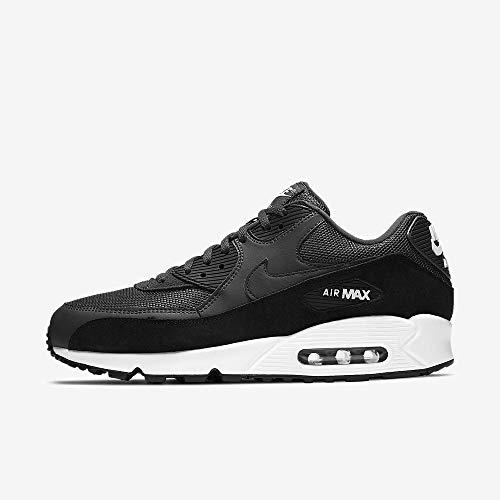 Nike Herren Air Max 90 Essential Leichtathletikschuhe, Schwarz (Anthracite/White/Black 000), 39 EU - Sneakers Jungen Rot Nike