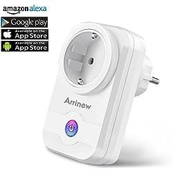 WLAN Smart Steckdose, Arrinew Smart Steckdose Intelligente Wifi Ferngesteuerte Steckdosen kompatibel mit Amazon Alexa, Echo und Echo Dot für IOS und Android mit Voice Contorl , Timing Funktion