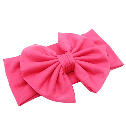 MIRRAY Süß Bonbonfarbenen Haarschmuck Kinder Bogen Knoten Retro Baby Bequem Stirnband Schleife Neues Haarband Pink