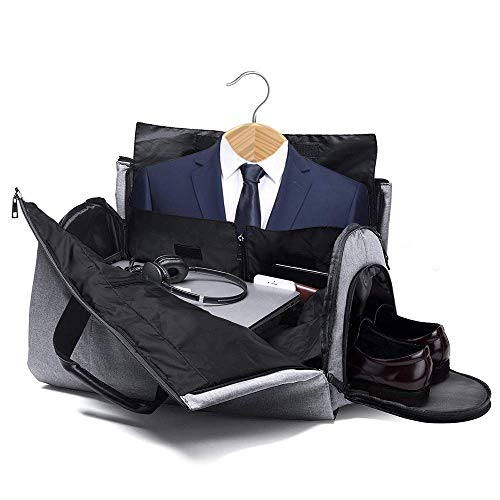 64ef7f99f Suit Bag with Shoe Compartment, Fresion 2 in 1 Garment Bag/Suit Carrier Bag