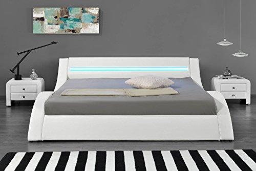 Hypnia Cama Design LED blanca-140 x 190 (cm)