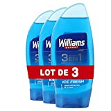 Williams Gel Douche Homme 3 en 1 Ice Fresh 250ml - Lot de 3