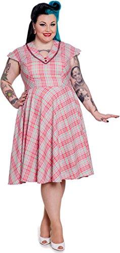 Hell Bunny 50s CAROL DRESS Tarten Karo DRESS / Kleid Plus Size Rockabilly Mint / Rot / Schwarz / Weiß