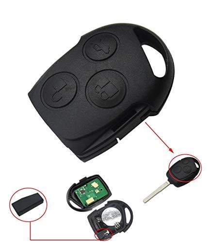 1x Ersatz Schlüsselgehäuse (oberer Teil) mit 3 Taste mit Platine 433Mhz + Transponder 4D63 (80 bit) chip Chiavi Autoschlüssel Schlüssel Fernbedienung Funkschlüssel Gehäuse - INION (Ford Courier Teile)