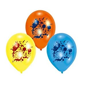 "Mickey Mouse, Donald Duck & Pluto 9"" Latex Balloons x 6"